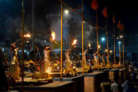 Evening Ganga Aarti at Dashaswamedh Ghat Varanasi